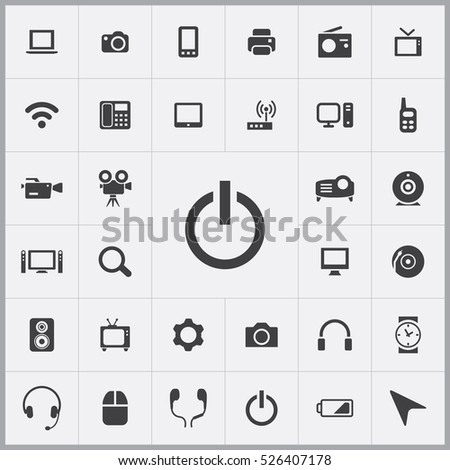 power on icon. device icons universal set for web and mobile