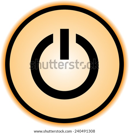Power on/off button sign icon, vector illustration. Flat design style