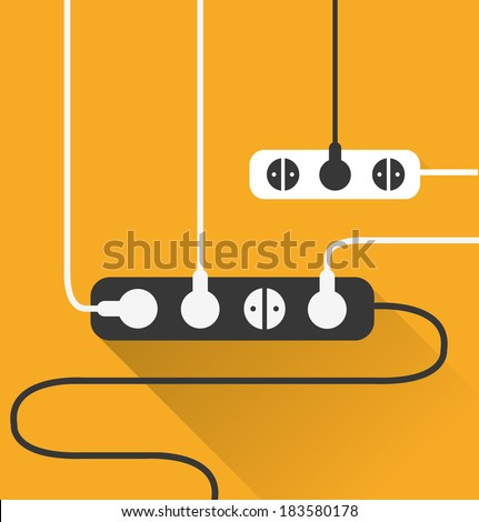 power outlet icon in minimal style 1 - stock vector