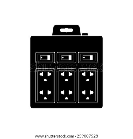 Power outlets, Electric socket adapter icon - Vector - stock vector