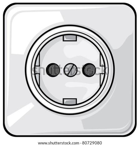 Power Plug Outlet Lightning Symbol Stock Vector 145307563 ...