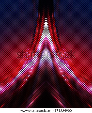 power red blue abstract background square pixel mosaic vector eps 10 - stock vector