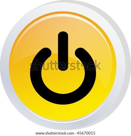 power sign icon button - stock vector