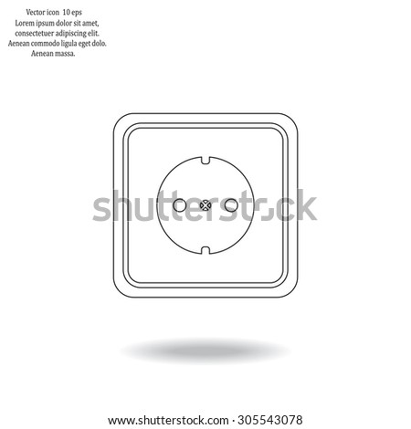 power socket vector icon