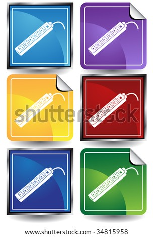 power strip outlet icon color