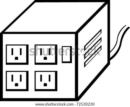 power voltage regulator - stock vector