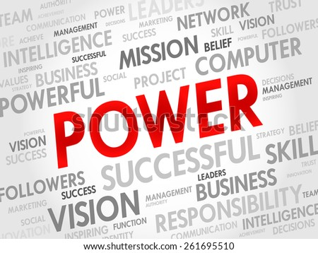 POWER word cloud, business concept - stock vector