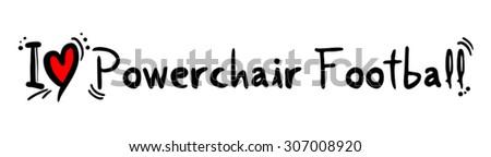 Powerchair Football love - stock vector