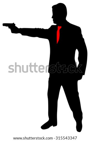 Powerful businessman with a gun
