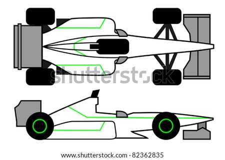 Powerful vehicle to compete in races - stock vector