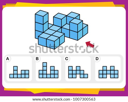 Practice Questions Worksheet Education IQ Test Stock Vector (2018 ...