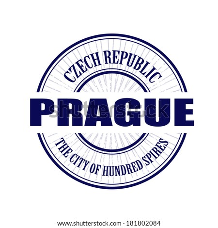 Prague grunge stamp with on vector illustration