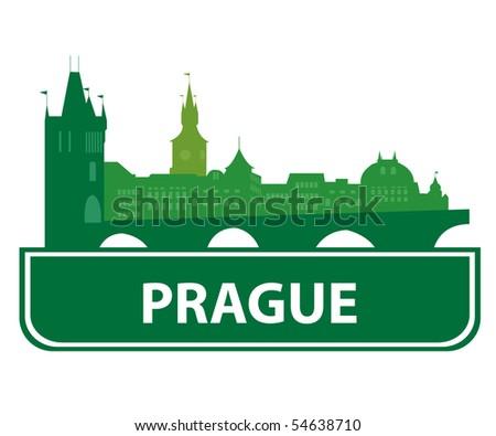 Prague skyline. Vector illustration - stock vector