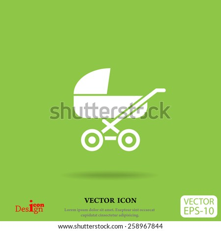pram vector icon - stock vector