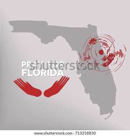 Pray Florida Symbol Humanity Storm Natural Stock Photo Photo
