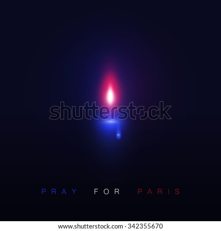 Pray for Paris. 13 November 2015.  - stock vector