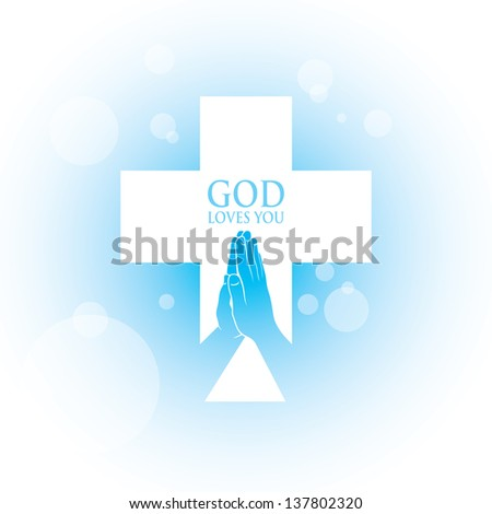 Prayer hands - vector illustration - stock vector