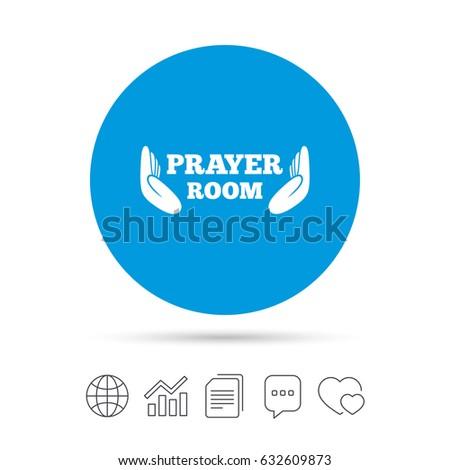 Prayer Room Sign Icon Religion Priest Stock Vector 632609873