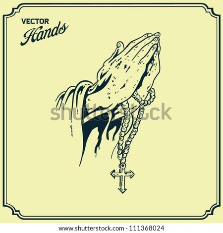 Praying Hands - stock vector