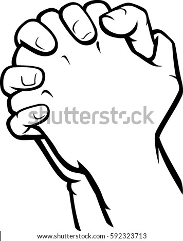 praying hands side view stock vector (2018) 592323713 - shutterstock