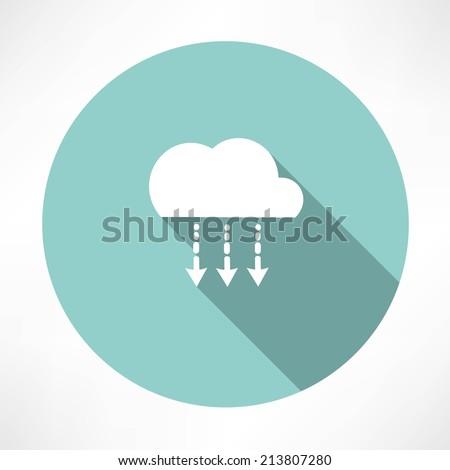 precipitation icon - stock vector