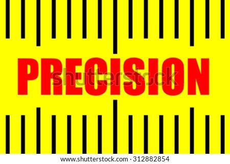 Precision on  measuring tape. - stock vector