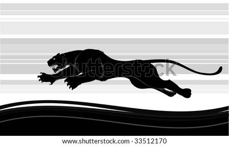 predator run - stock vector