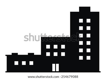 prefabricated house - stock vector