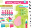 Pregnancy infographics elements collection. Set 5. - stock