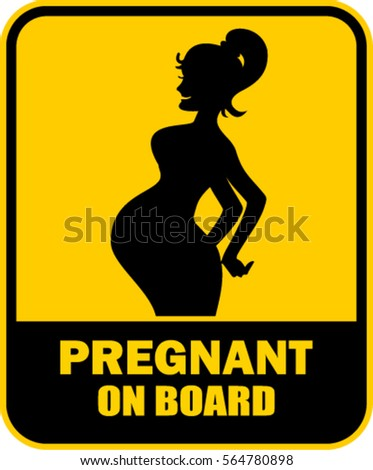 pregnant on board, yellow sticker