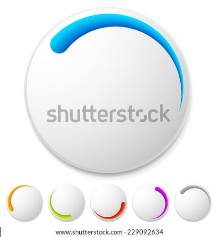 Preloader, buffer symbol with vivid colors - stock vector