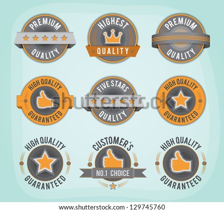 Premium and High Quality retro badges. EPS10. - stock vector