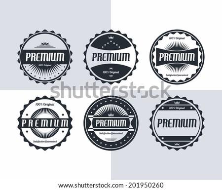 premium badge and label theme - stock vector