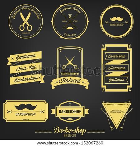 Premium Barbershop Vintage Label - stock vector