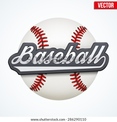 Premium Baseball label. Symbol of sport or club. Vector Illustration isolated on white background. - stock vector