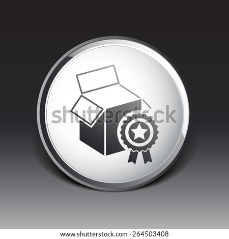 PREMIUM box packing vector design isolated icon. - stock vector