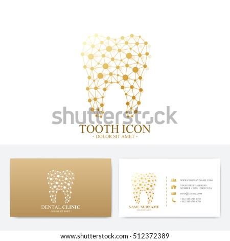 Premium business card print template visiting stock vector 512372389 premium business card print template visiting dental clinic card with tooth logo dentist office flashek