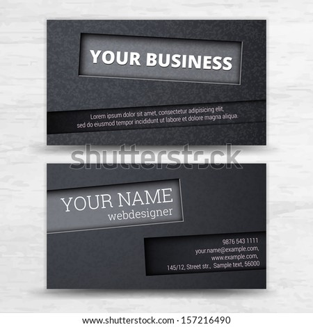 Premium business Card Set. Vector illustration. EPS10  - stock vector