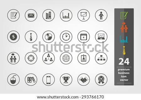 Premium business icon collection in vector eps10 - stock vector