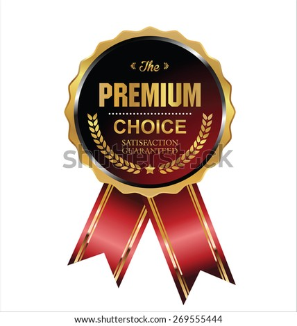 Premium choice label - stock vector