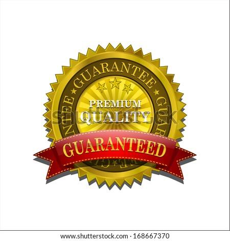 Premium Gold Seal Icon Badge - stock vector