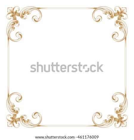 vintage frame border design. Brilliant Vintage Premium Gold Vintage Baroque Ornament Frame Border Borders Vector Vintage  Frame In Border Design C