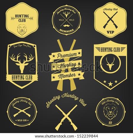 Premium Hunting Vintage Label - stock vector