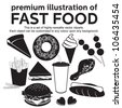premium illustration of fast food - stock photo