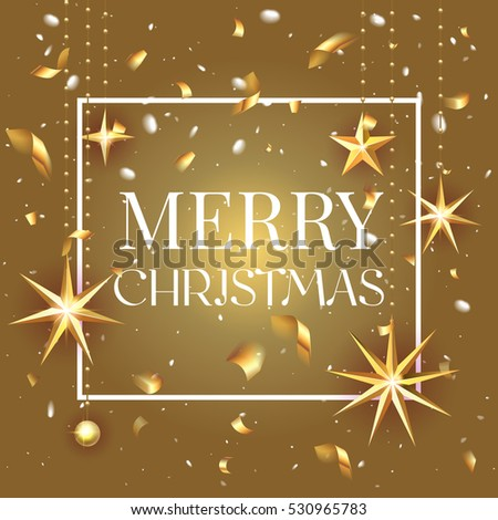 premium luxury merry christmas holiday greeting stock vector