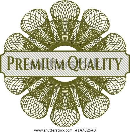 Premium Quality abstract rosette - stock vector