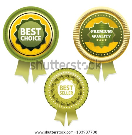 Premium Quality and Best Choice Label  / Bestseller label . Eps 10 - stock vector