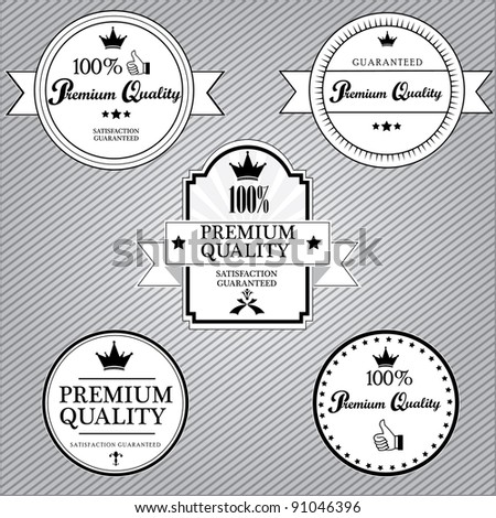 Premium Quality and Satisfaction Guaranteed Label.