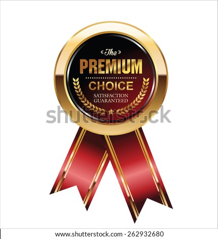 Premium quality badge - stock vector