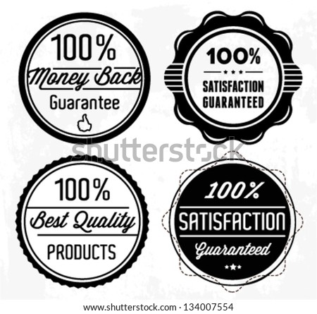 Premium Quality Badges and Stickers in Retro Style - stock vector